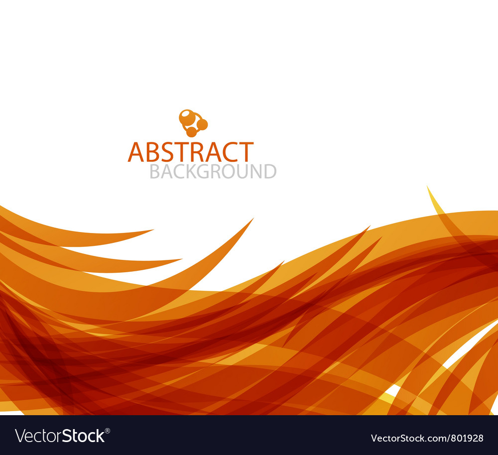 Abstract orange wave vector