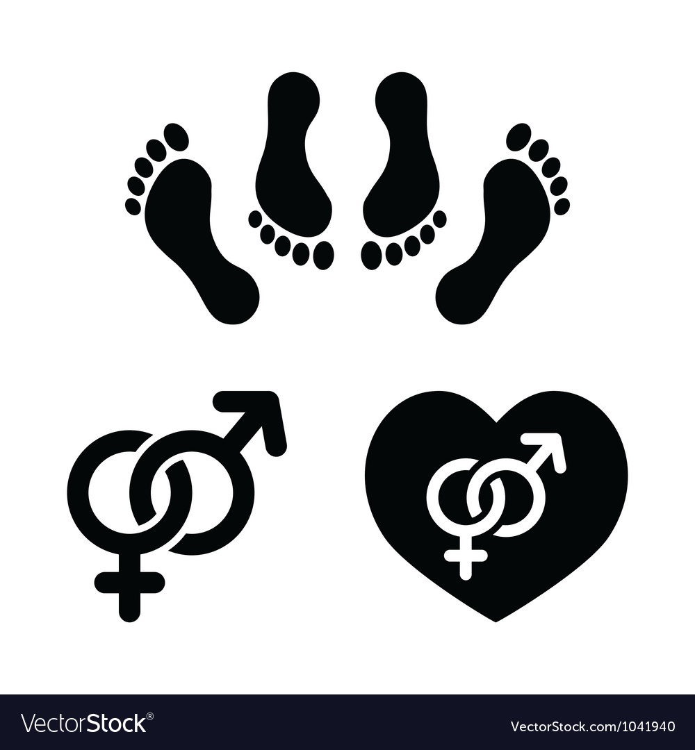 Couple sex making love icons set vector