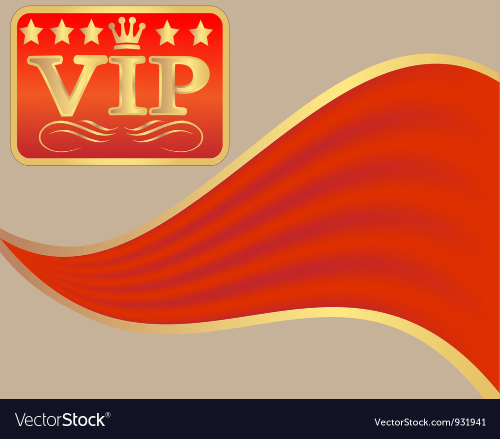 Vip sign vector