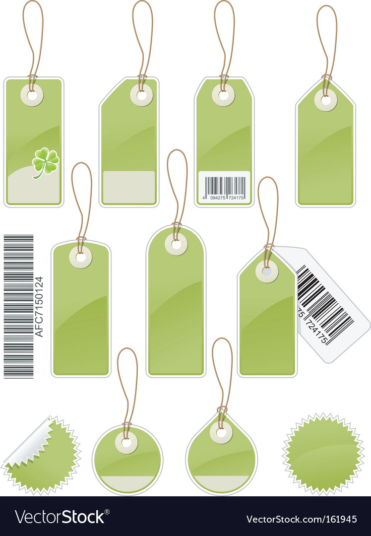 Price tags vector