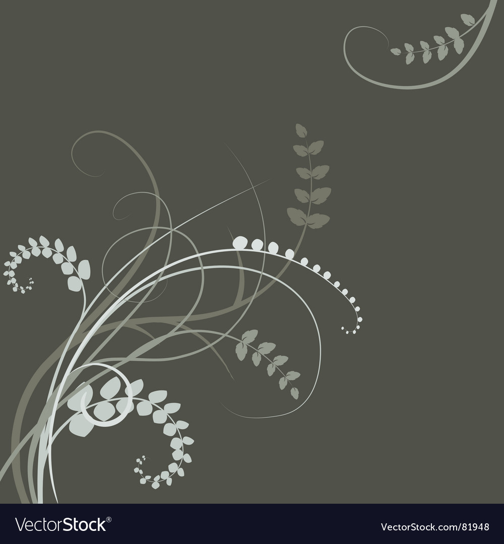 Floral background  plant leaves vector
