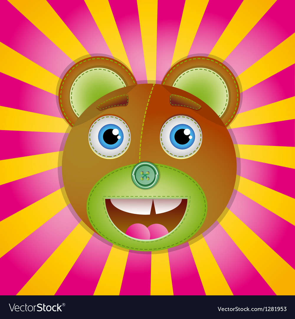 Bear toy poster vector