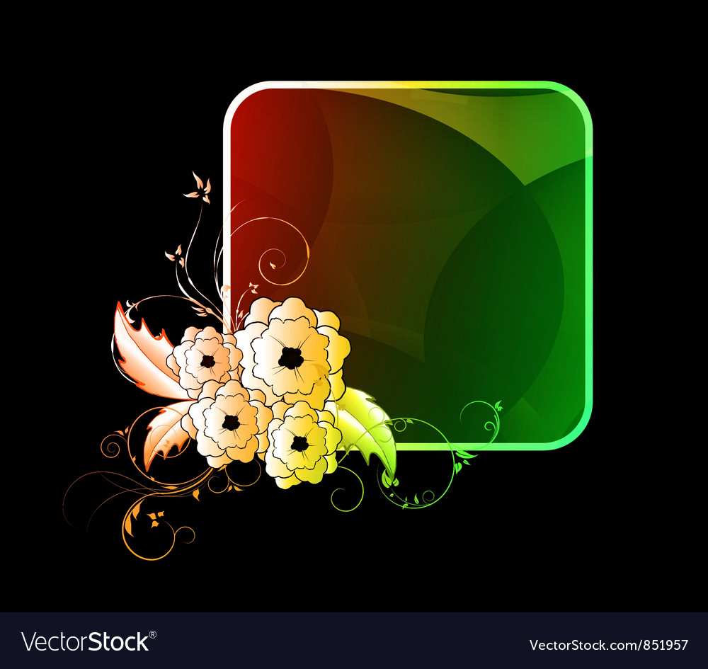 Free abstract colorful floral frame vector