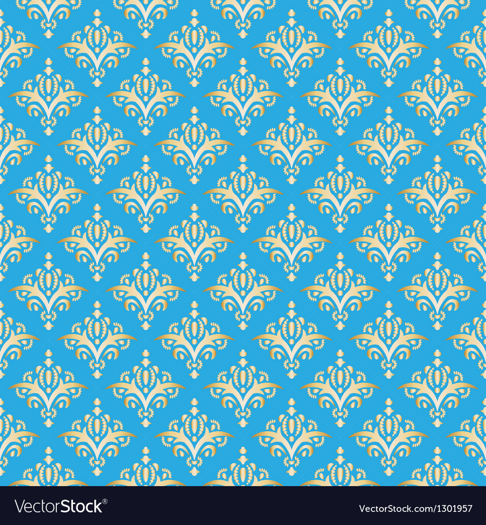 Damask seamless pattern texture elegant luxury vector