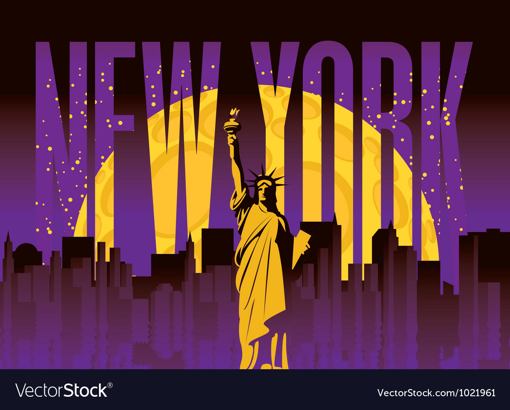 New york night vector