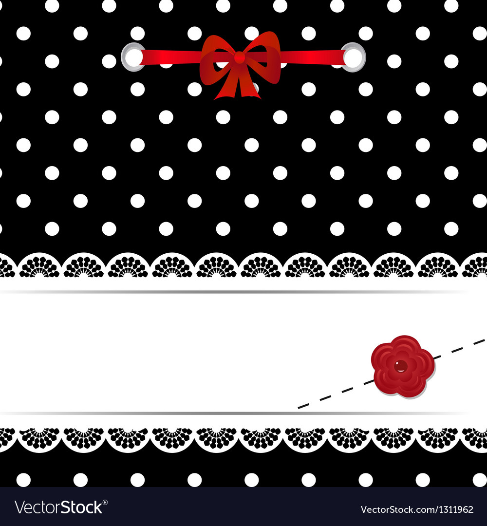 Template of a greeting card vector