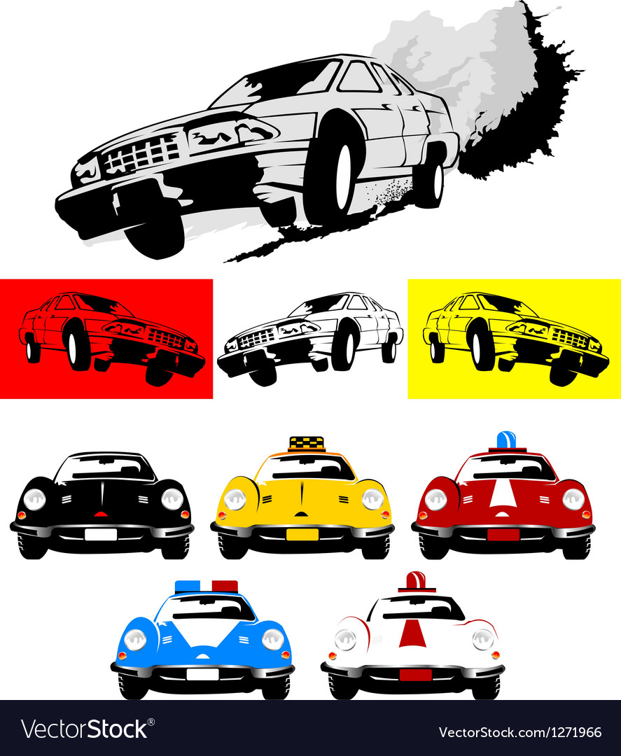 Action movie car vector