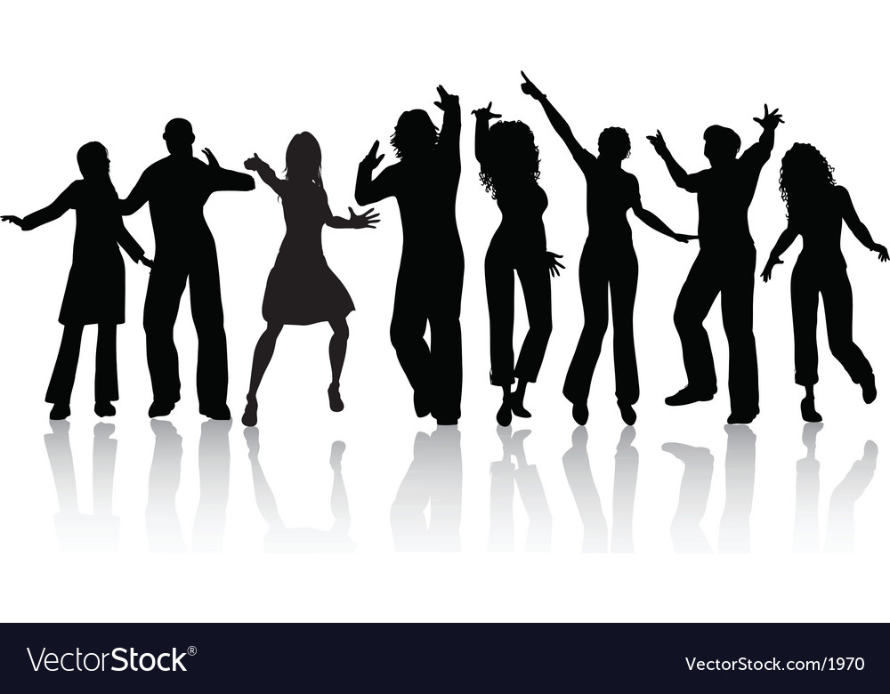 People dancing vector