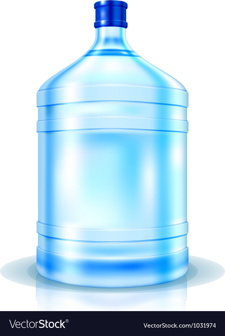 Big bottle of water vector