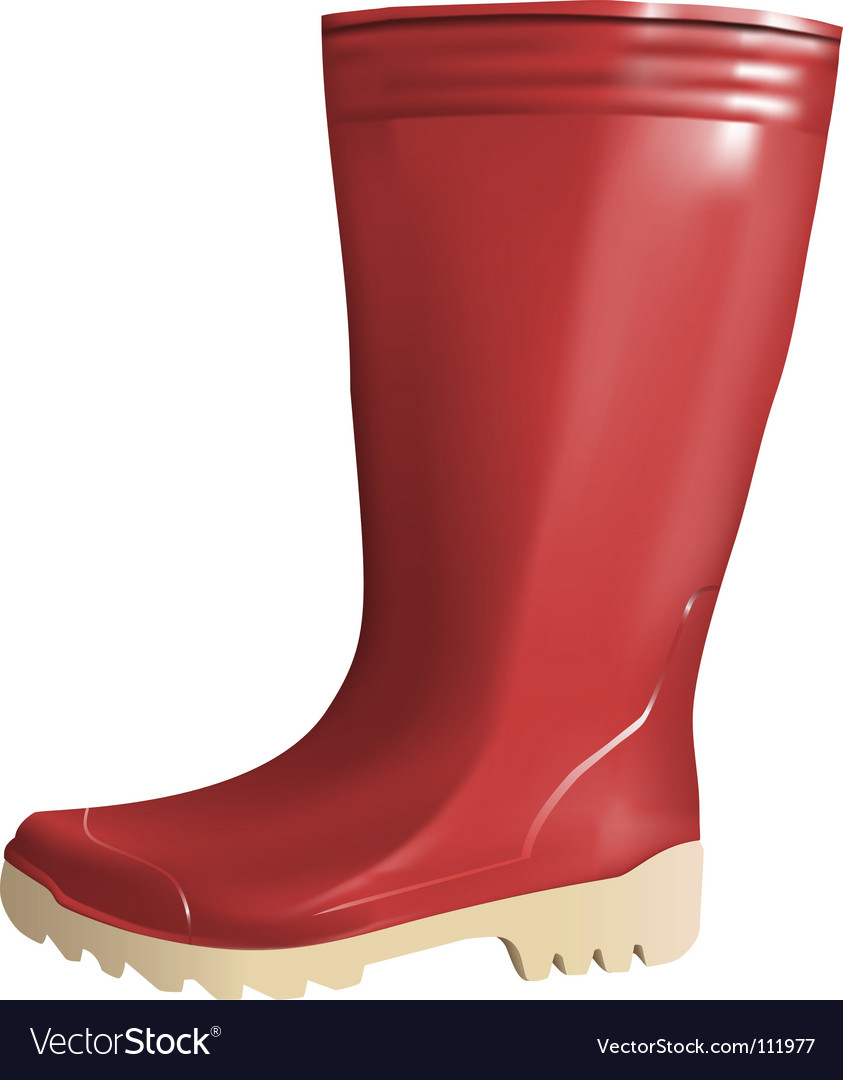 Rubber boot vector