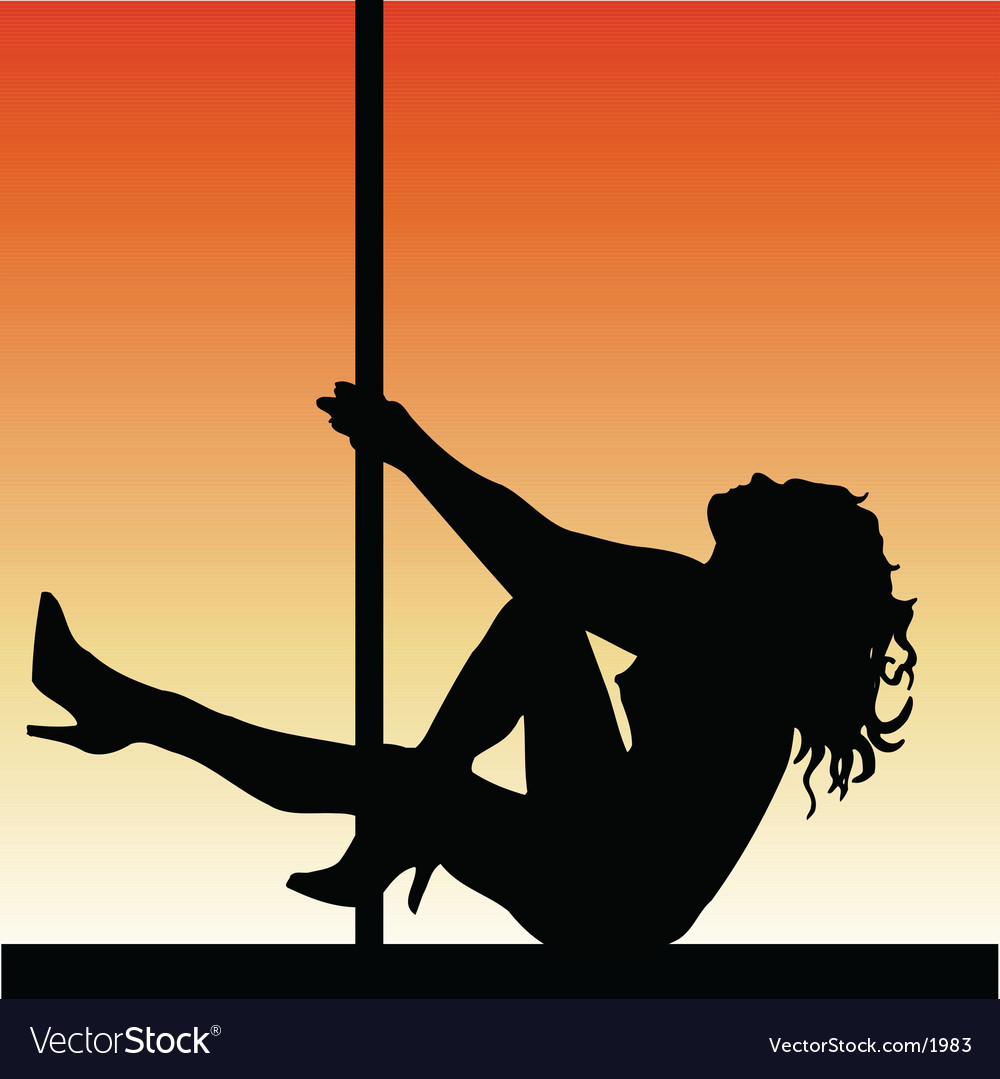 Pole dancer vector