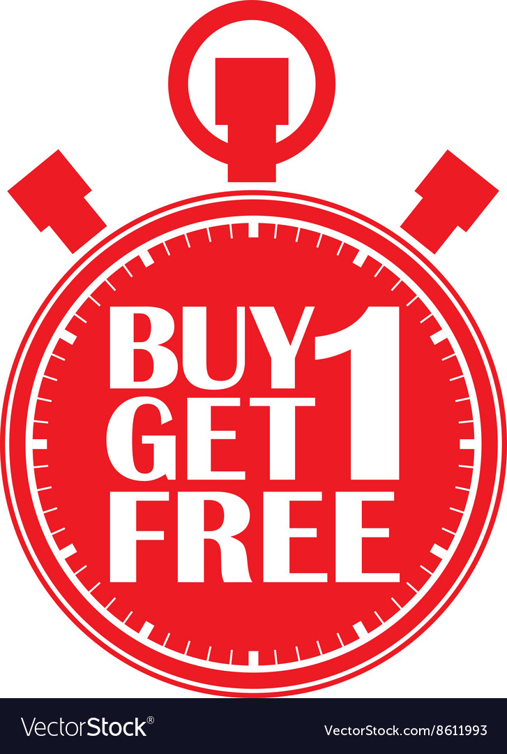 Buy 1 Get 1 Free Red Stopwatch Vector By Dinoz Image