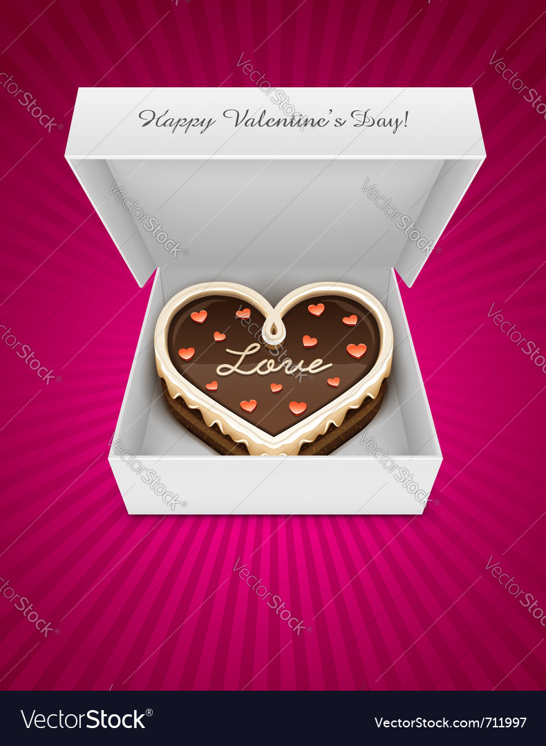 Sweet chocolate cake vector