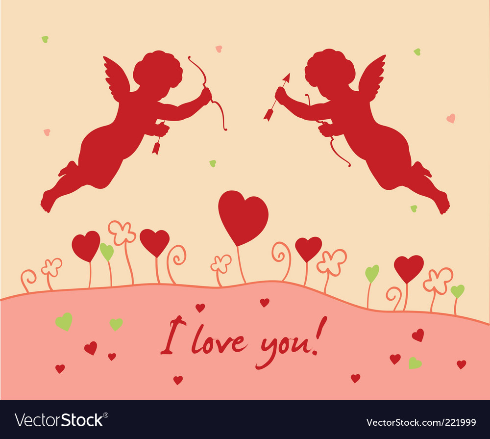 Romantic card vector