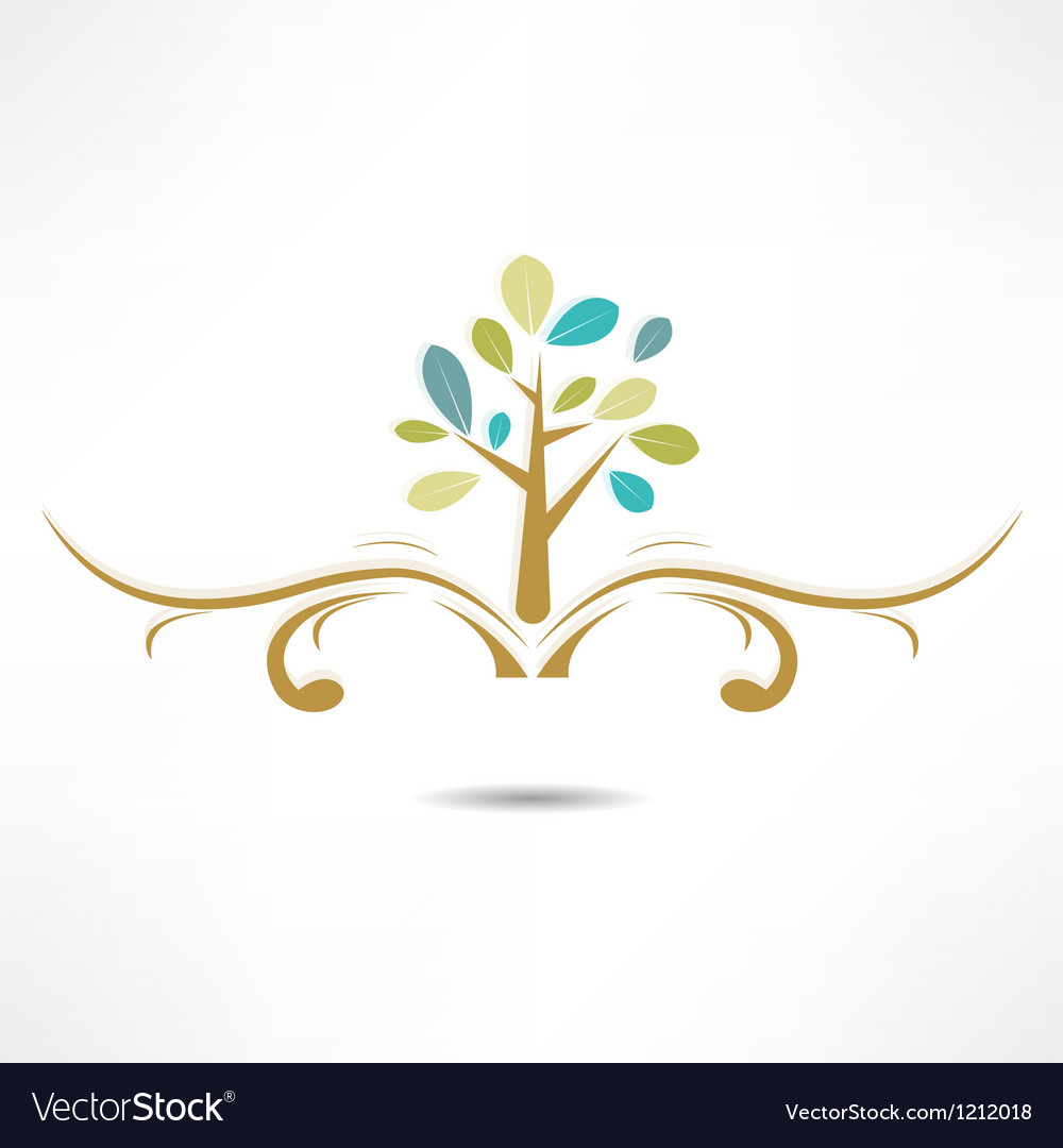 Abstract tree icon vector