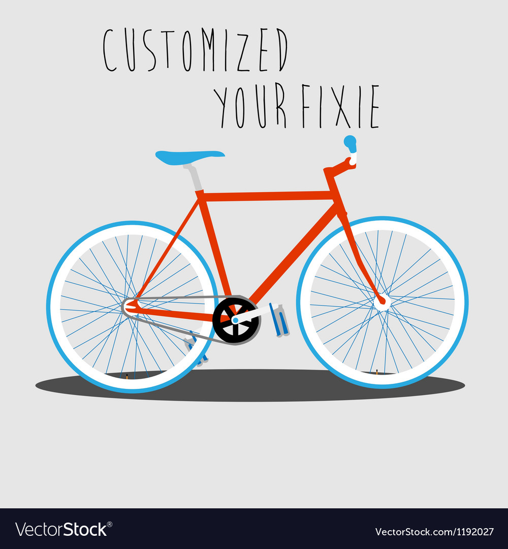 Customized your fixie 1 vector