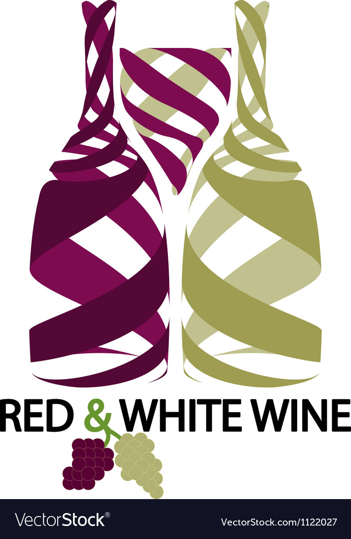 Red and white wine vector