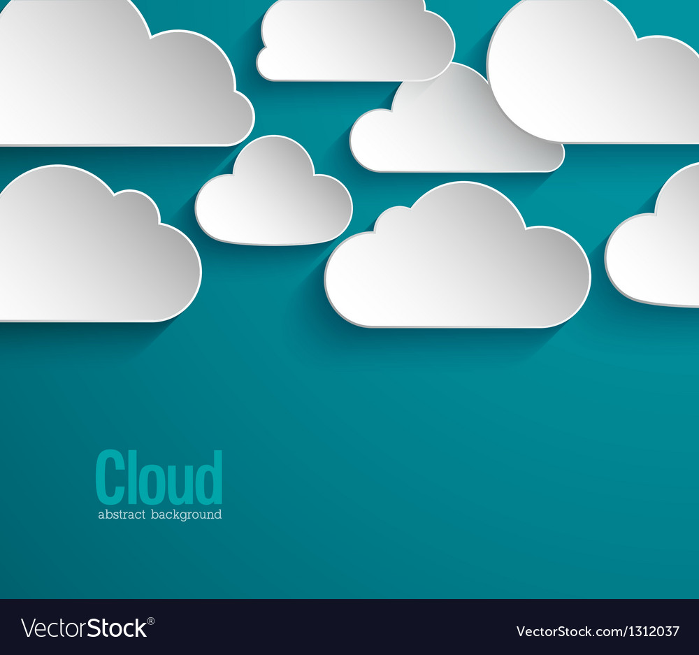 Abstract paper clouds background vector