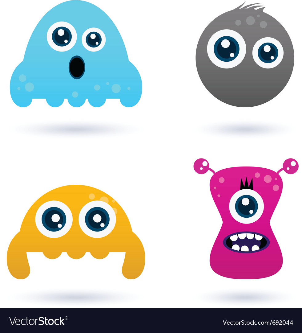 Funny curious monster vector