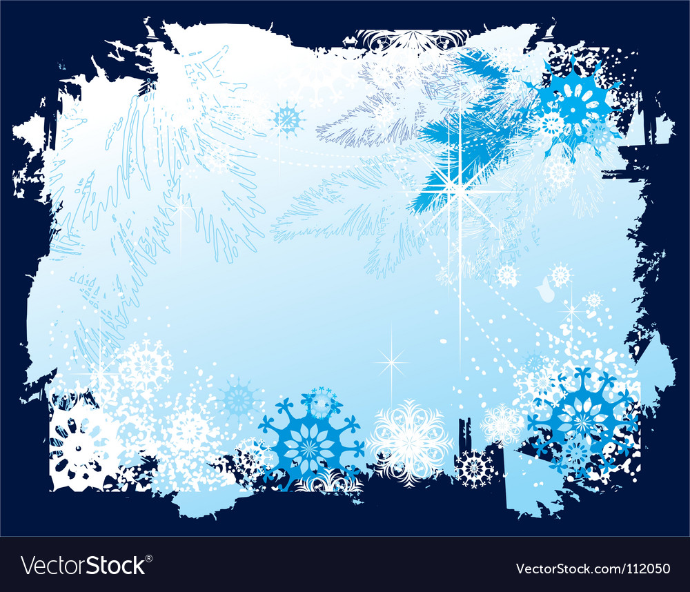Free christmas border vector