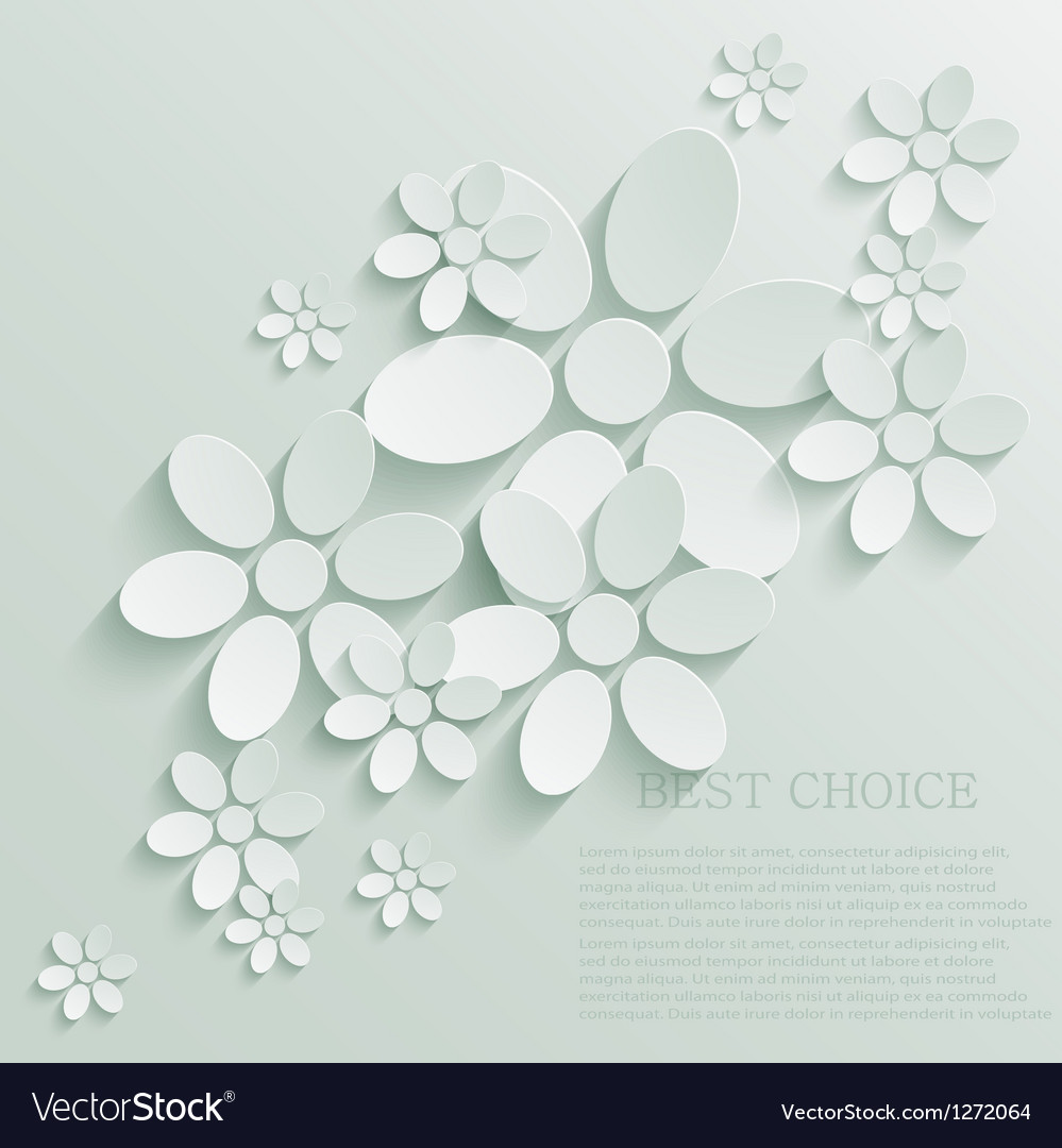 Flower background eps10 vector