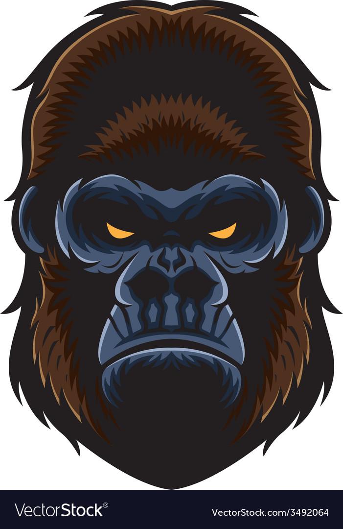 Gorilla vector head - photo#27