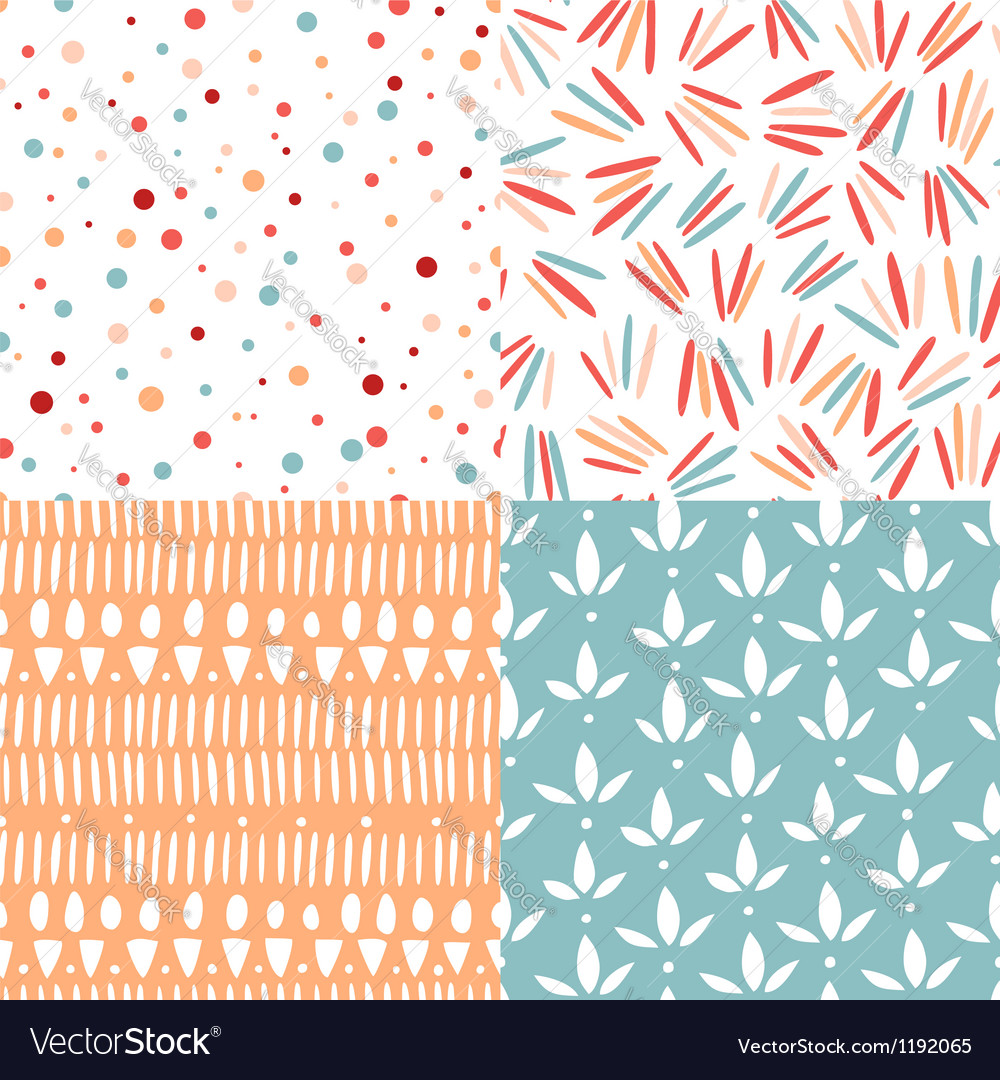 Doodle abstract patterns vector