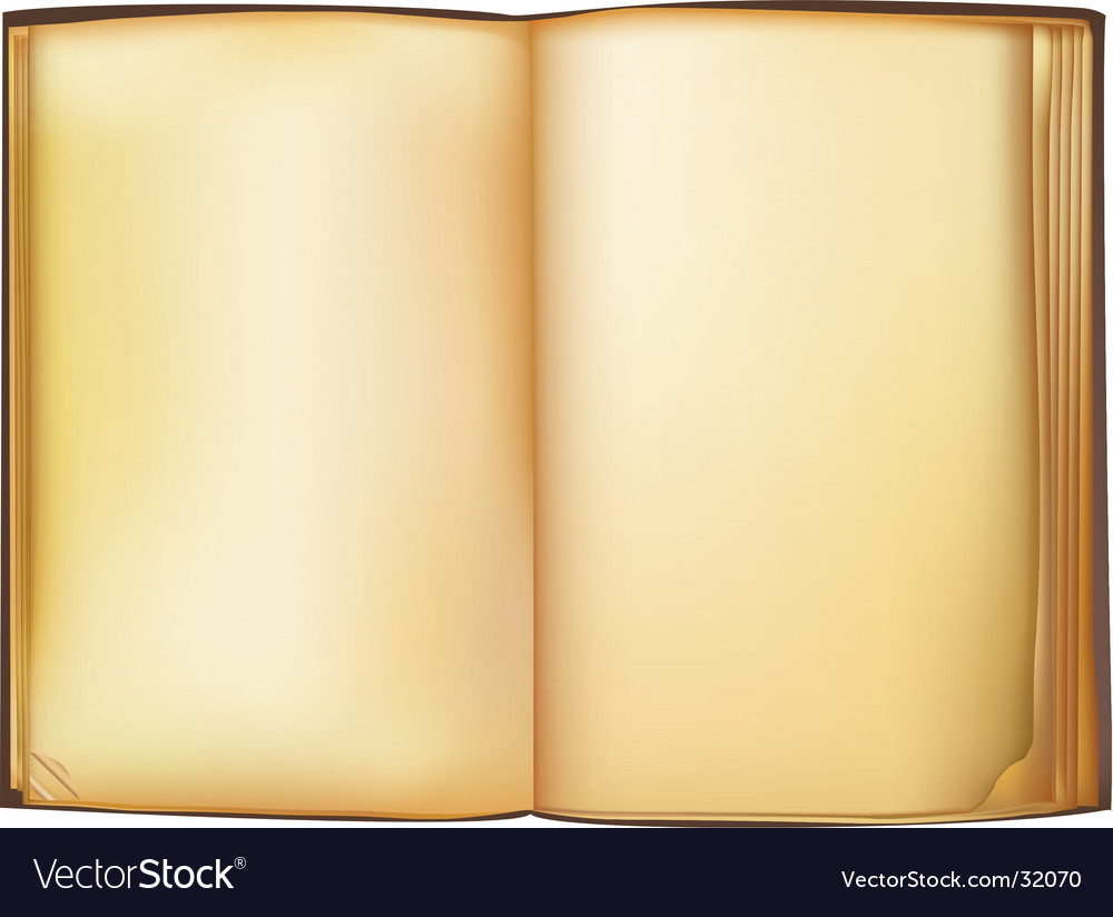 Old book vector