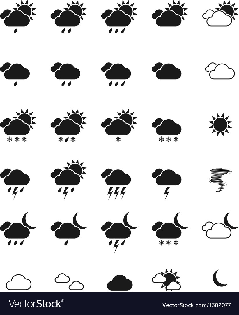 Weather icon set eps10 vector