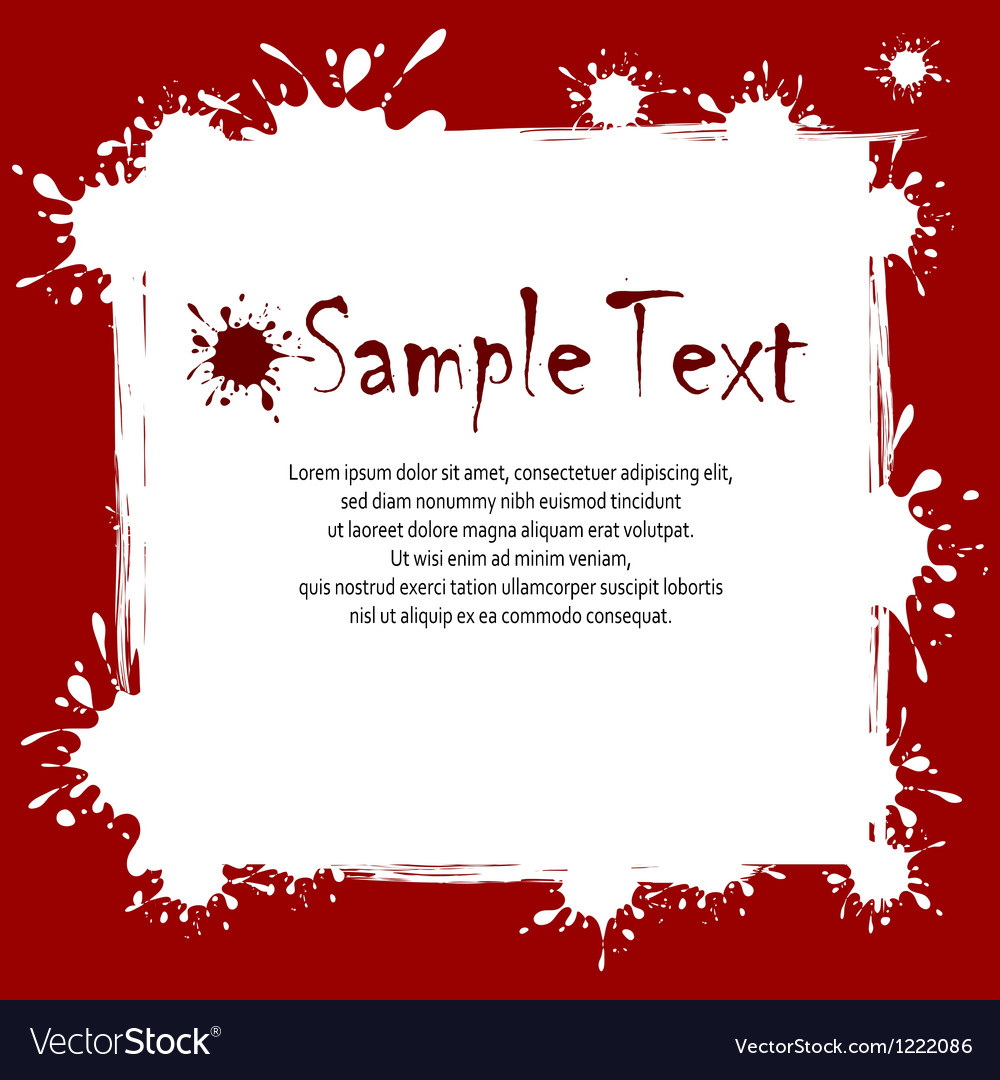 Text on inkblots background vector
