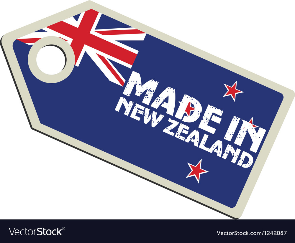 Made in new zealand vector