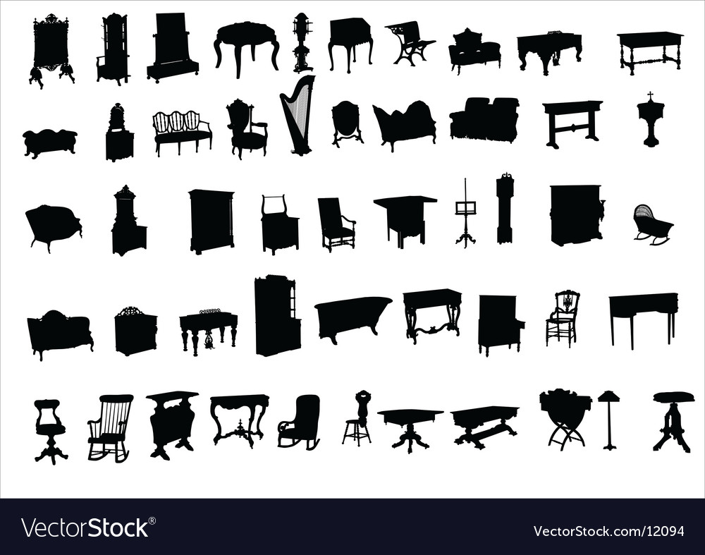 Ancient furniture vector