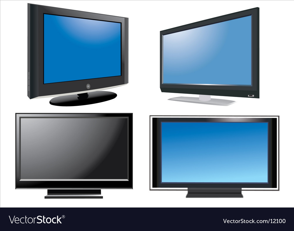Led tv vector