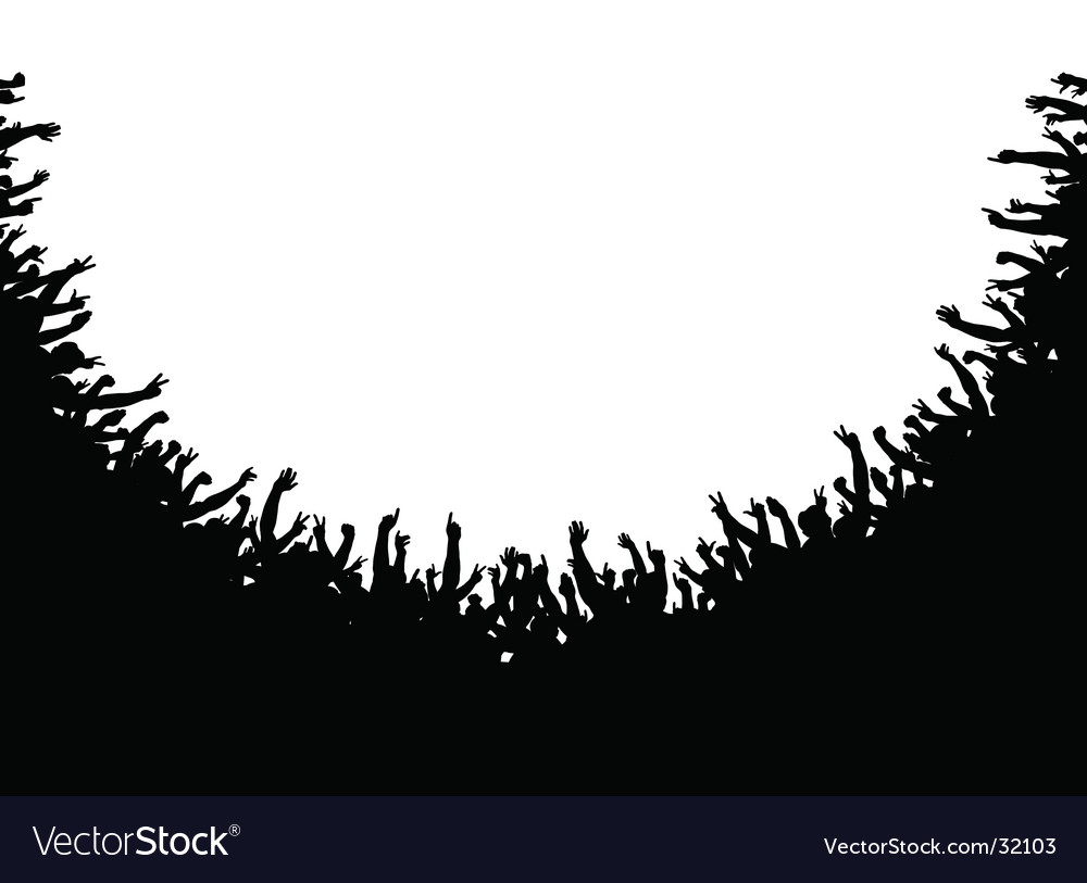 Crowd amphitheater vector