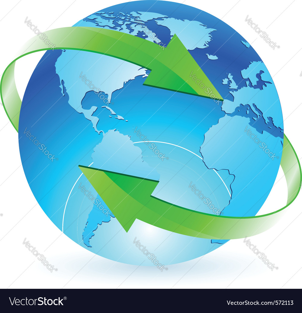 Protecting the planet vector