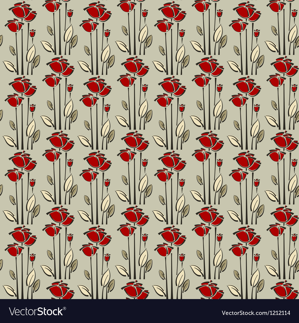 Floral seamless pattern with rose vector