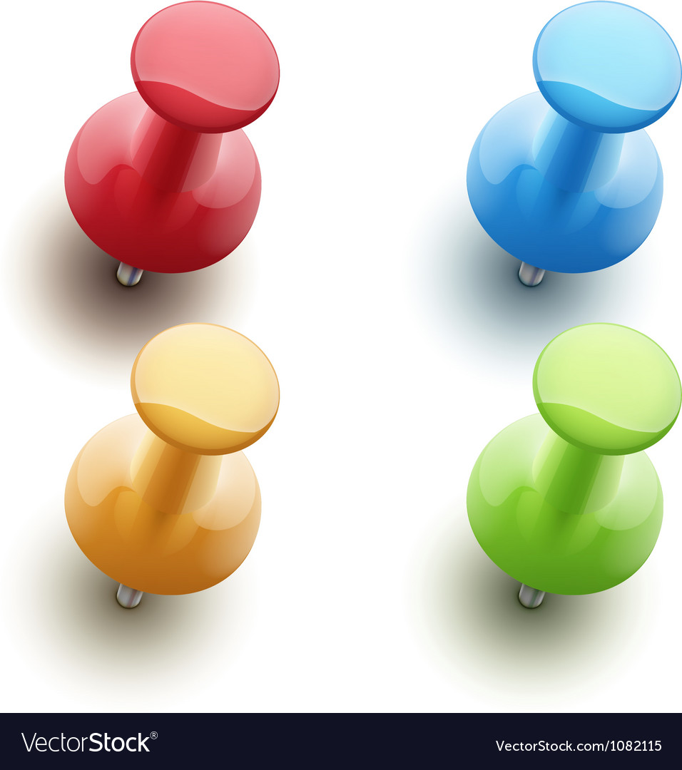 Push pins vector
