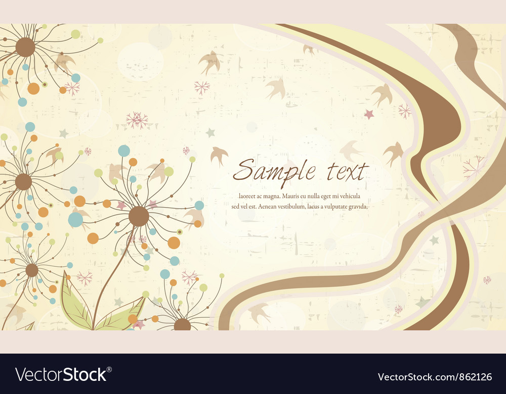 Free birds with floral vector