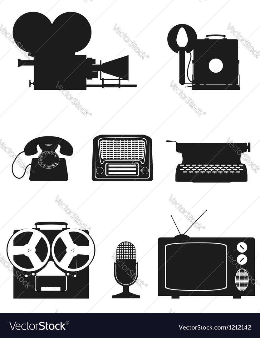 Vintage and old art equipment 02 vector