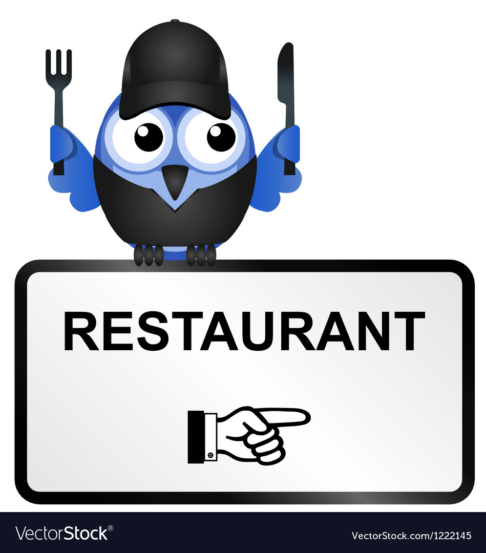 Bird restaurant sign vector