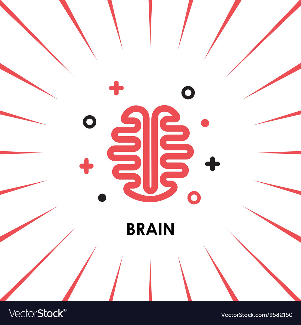 Brain logo silhouette top view design vector by for Top view design