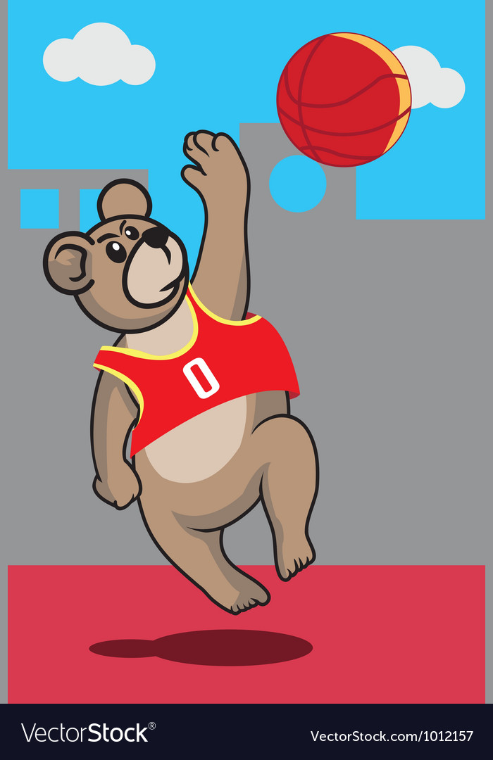 Basketball bear vector