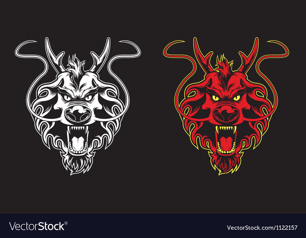 Dragon head symbol vector