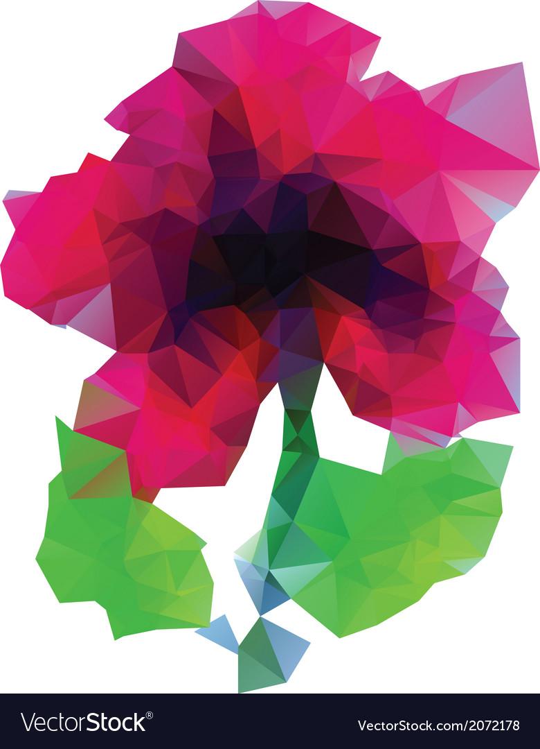 Polygonal purple flower