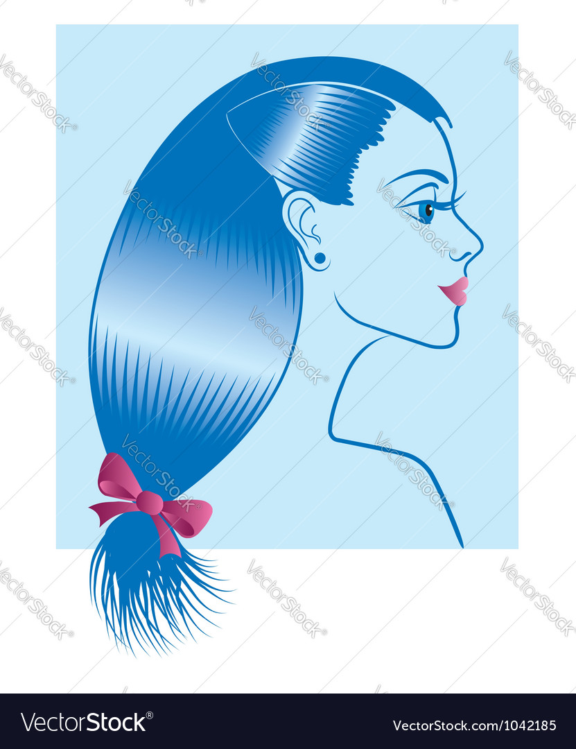 Woman with hairstyle vector