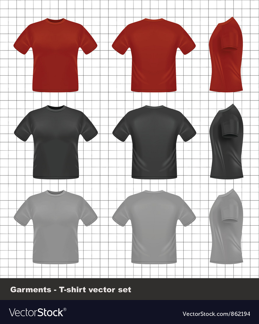 Free tshirt set vector