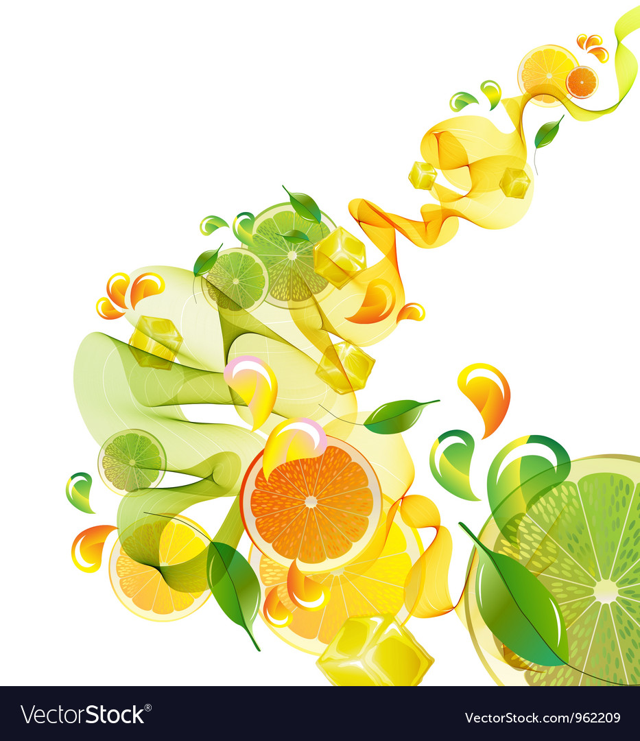 Citrus abstract splash vector by elmiko image 962209 vectorstock