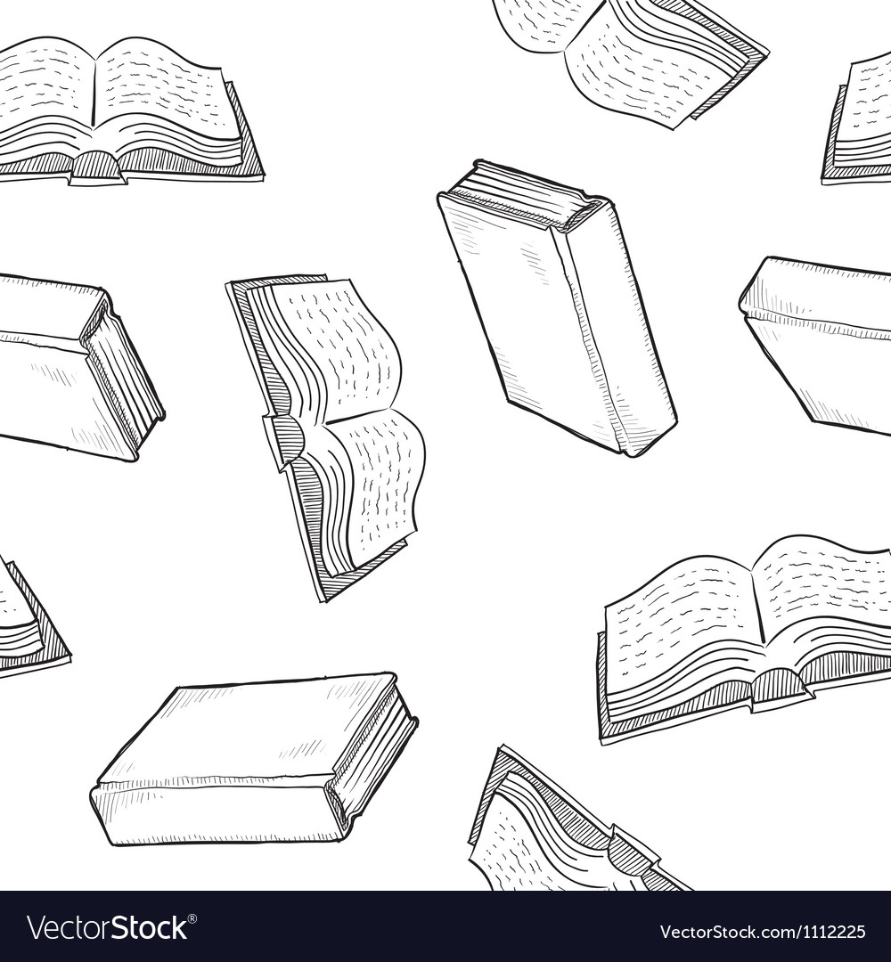 Doodle books pattern seamless vector