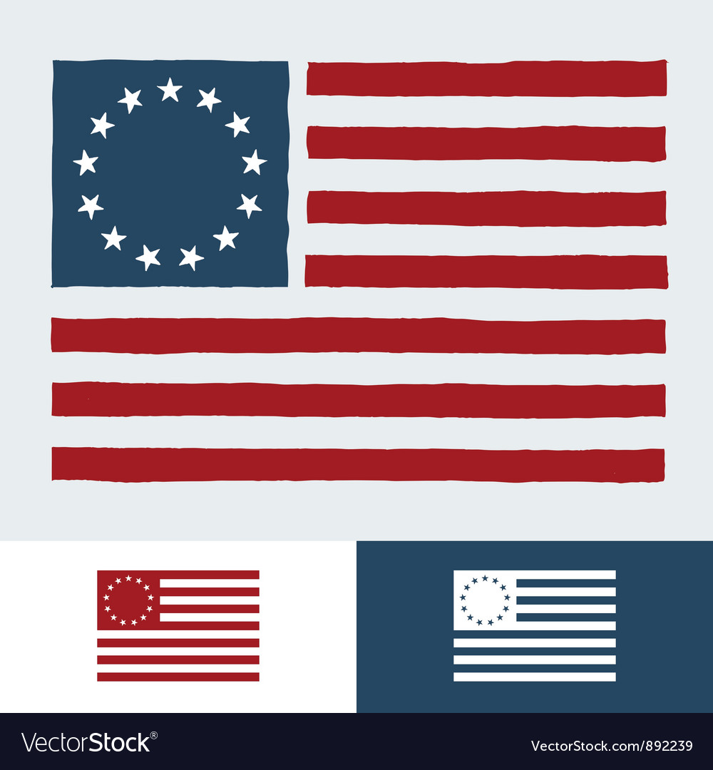 Original american flag vector