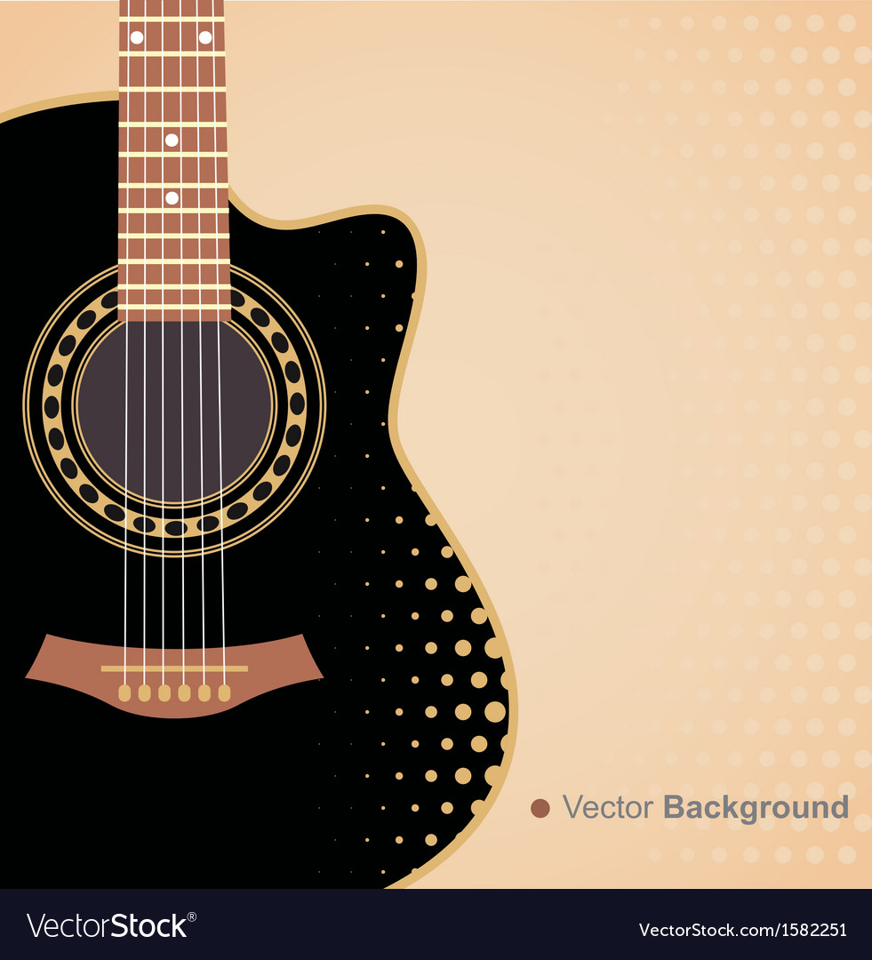 Background with guitar vector